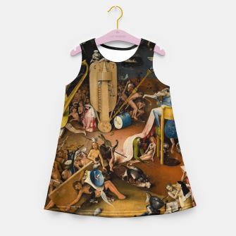 Miniatur Hieronymus Bosch-The Garden of Earthly Delights (Hell) 3 Girl's summer dress, Live Heroes