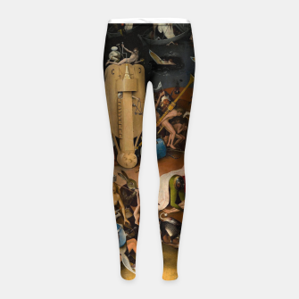 Miniatur Hieronymus Bosch-The Garden of Earthly Delights (Hell) 3 Girl's leggings, Live Heroes