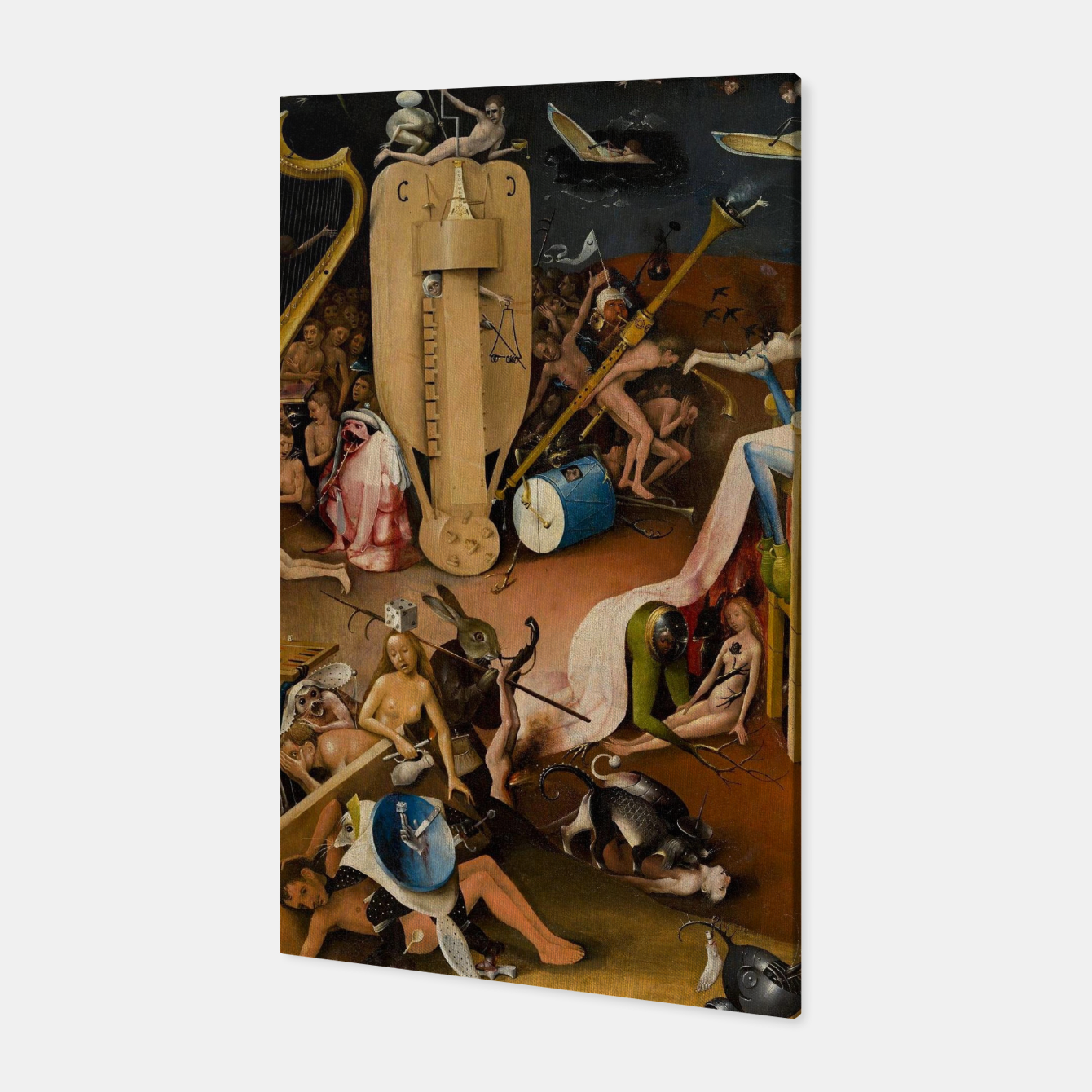 Image of Hieronymus Bosch-The Garden of Earthly Delights (Hell) 3 Canvas - Live Heroes