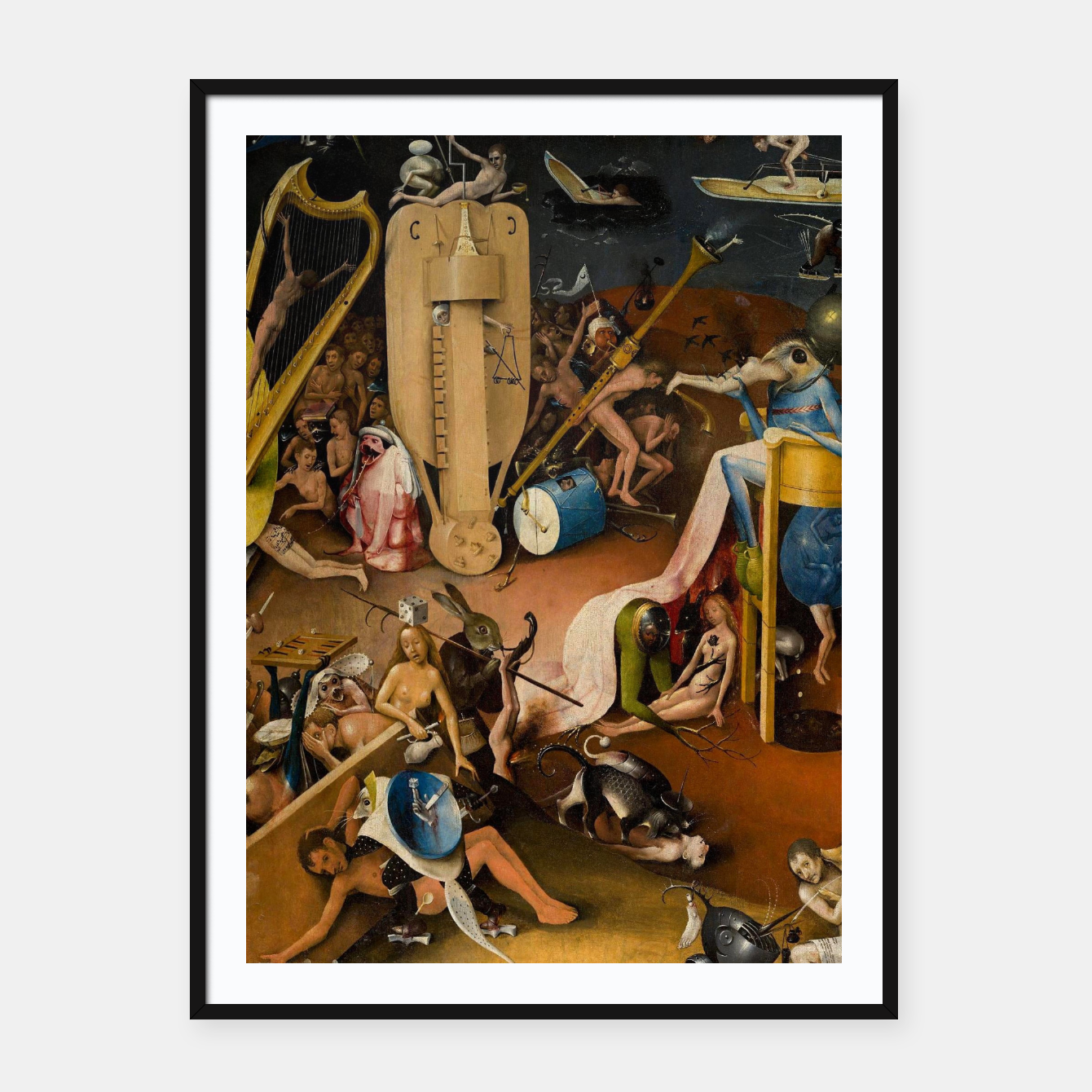 Image of Hieronymus Bosch-The Garden of Earthly Delights (Hell) 3 Framed poster - Live Heroes