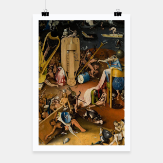 Miniatur Hieronymus Bosch-The Garden of Earthly Delights (Hell) 3 Poster, Live Heroes