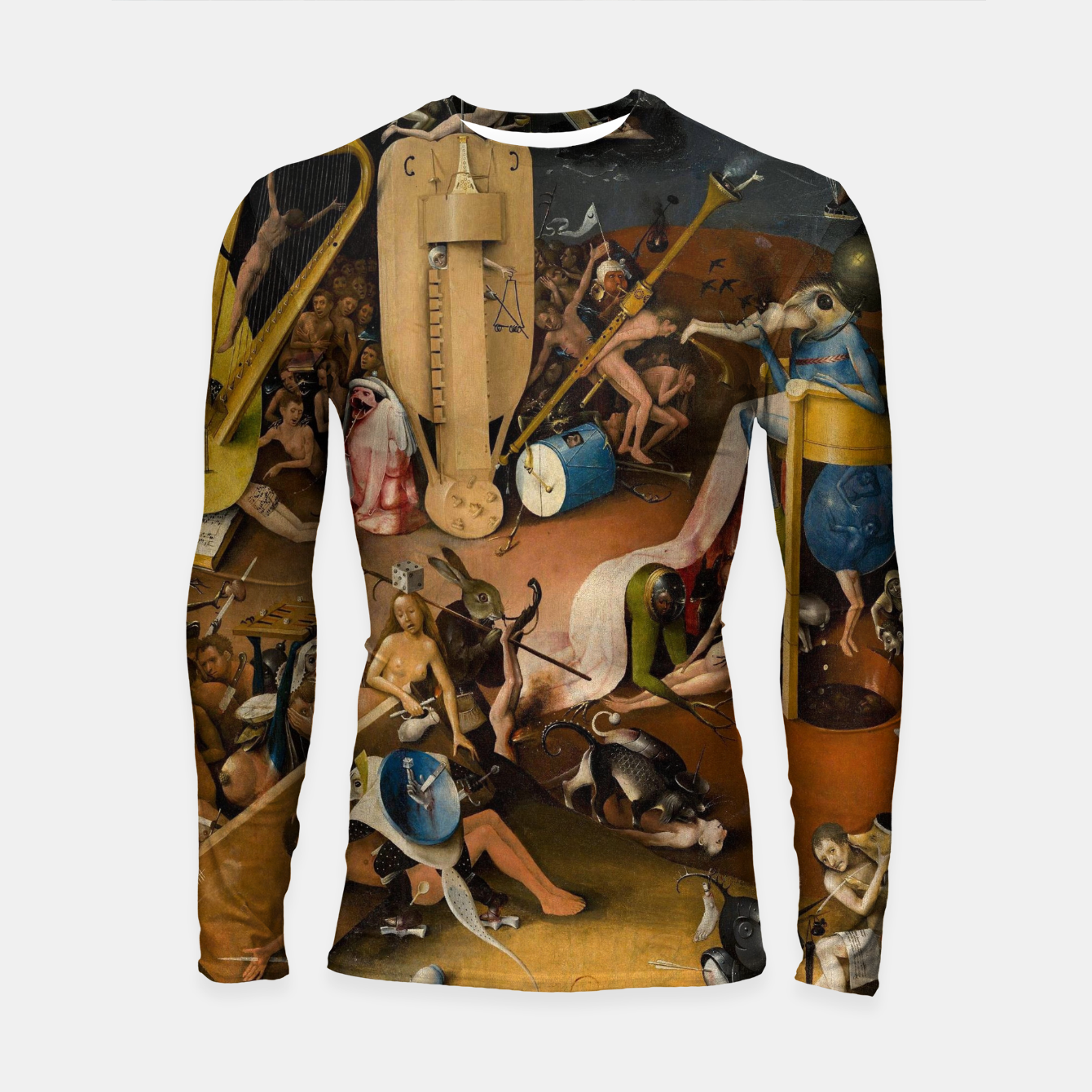 Image of Hieronymus Bosch-The Garden of Earthly Delights (Hell) 3 Longsleeve rashguard  - Live Heroes