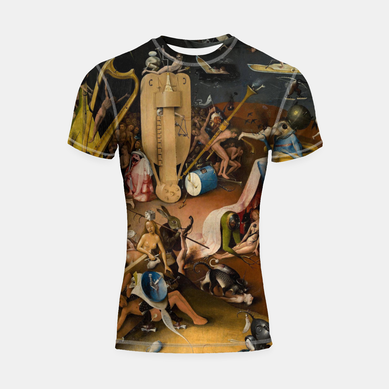 Image of Hieronymus Bosch-The Garden of Earthly Delights (Hell) 3 Shortsleeve rashguard - Live Heroes