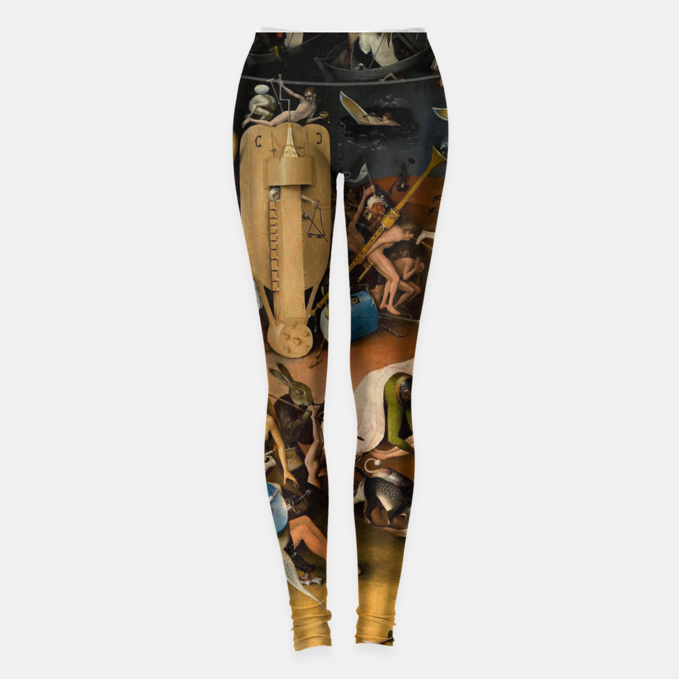 Image of Hieronymus Bosch-The Garden of Earthly Delights (Hell) 3 Leggings - Live Heroes