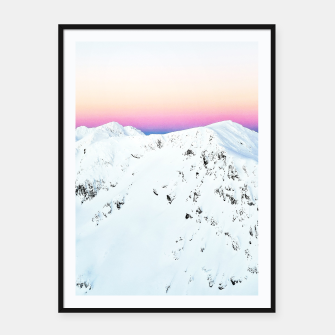 Thumbnail image of Snow Horizon Framed poster, Live Heroes