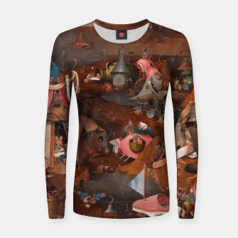 Miniatur Hieronymus Bosch-Last Judgement Women sweater, Live Heroes