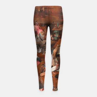 Miniatur Hieronymus Bosch-Last Judgement Girl's leggings, Live Heroes