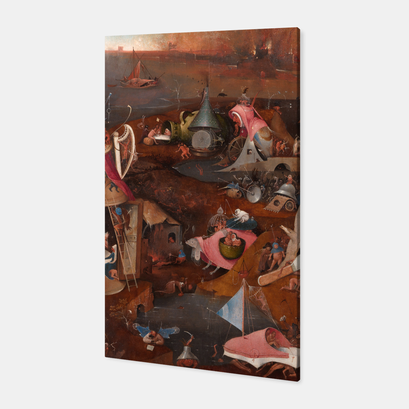 Image of Hieronymus Bosch-Last Judgement Canvas - Live Heroes