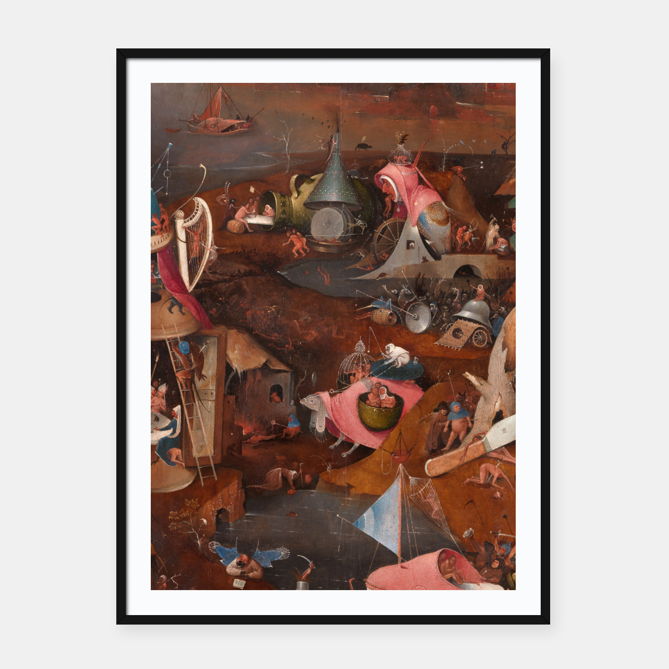Image of Hieronymus Bosch-Last Judgement Framed poster - Live Heroes