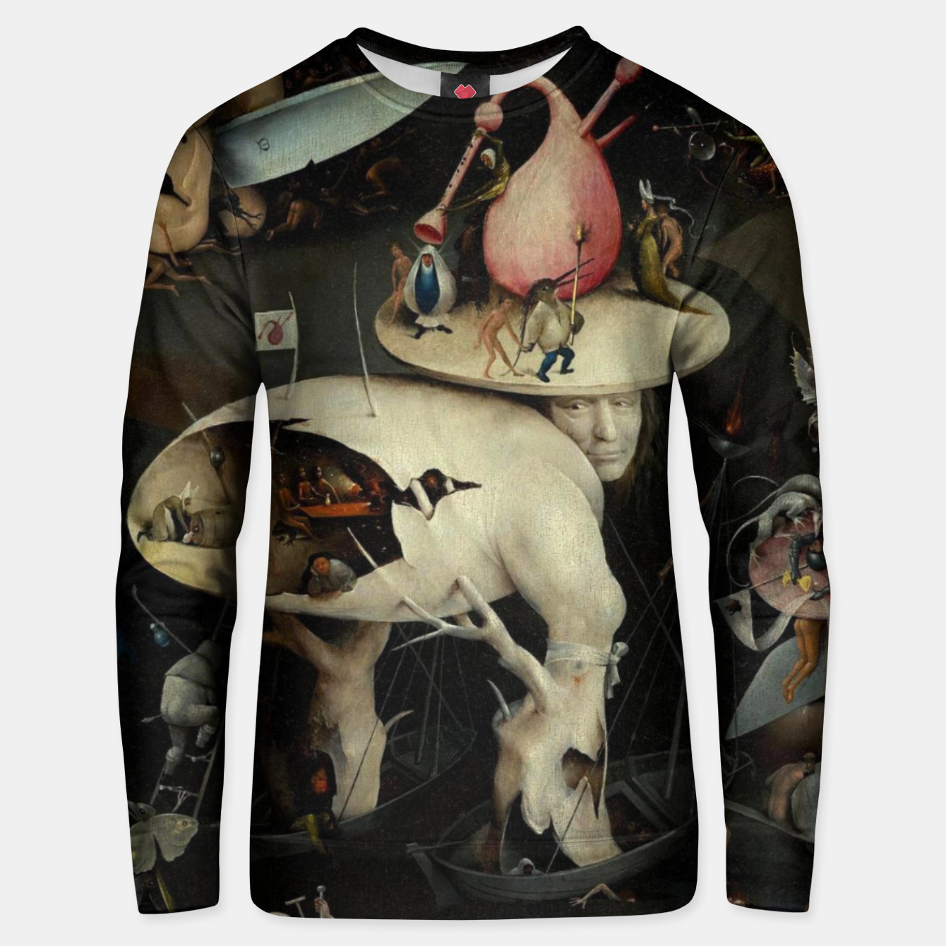 Image of Hieronymus Bosch-The Garden of Earthly Delights (Hell) 2 Unisex sweater - Live Heroes