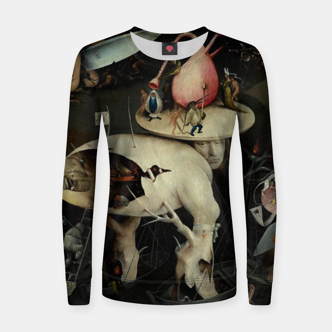 Image of Hieronymus Bosch-The Garden of Earthly Delights (Hell) 2 Women sweater - Live Heroes
