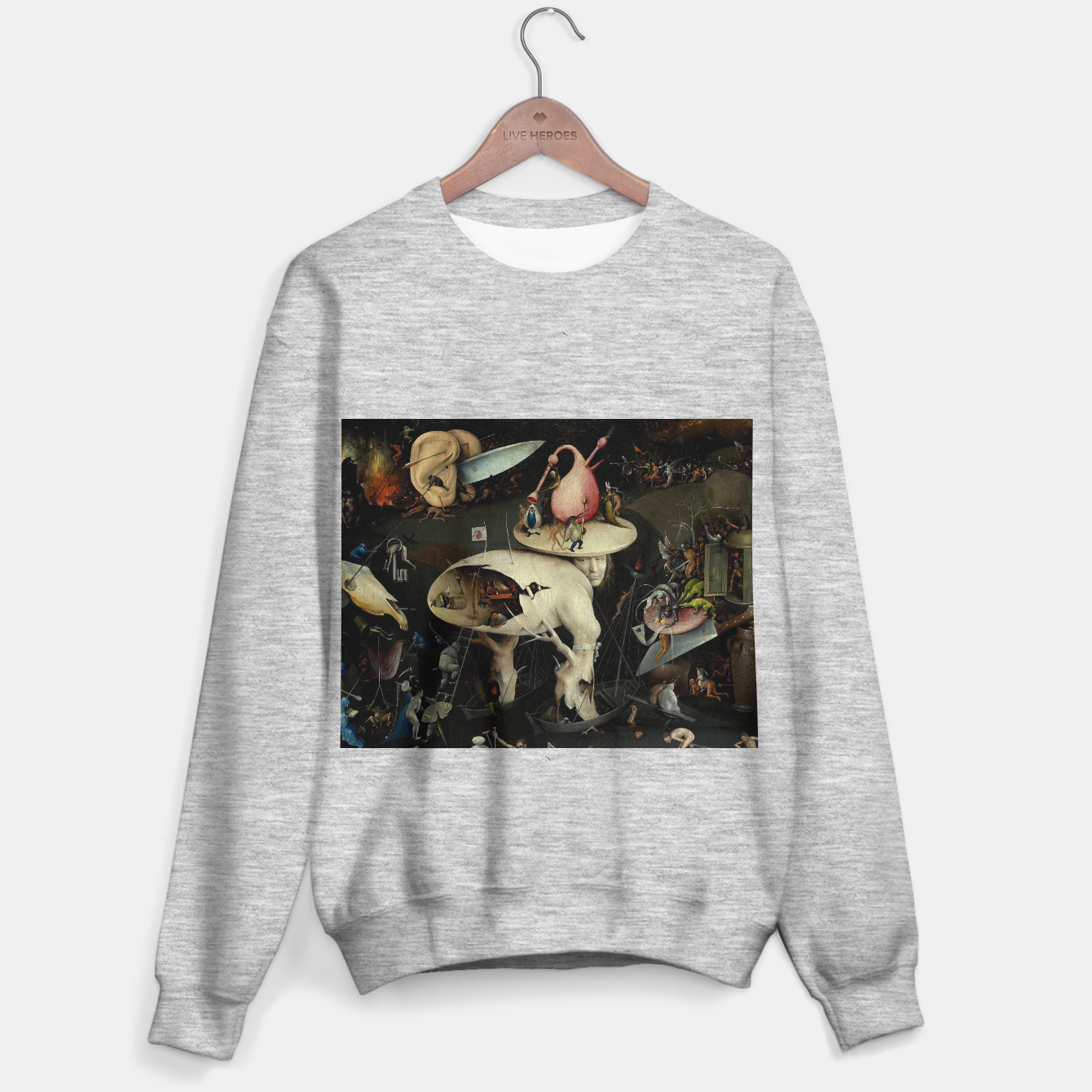 Image of Hieronymus Bosch-The Garden of Earthly Delights (Hell) 2 Sweater regular - Live Heroes