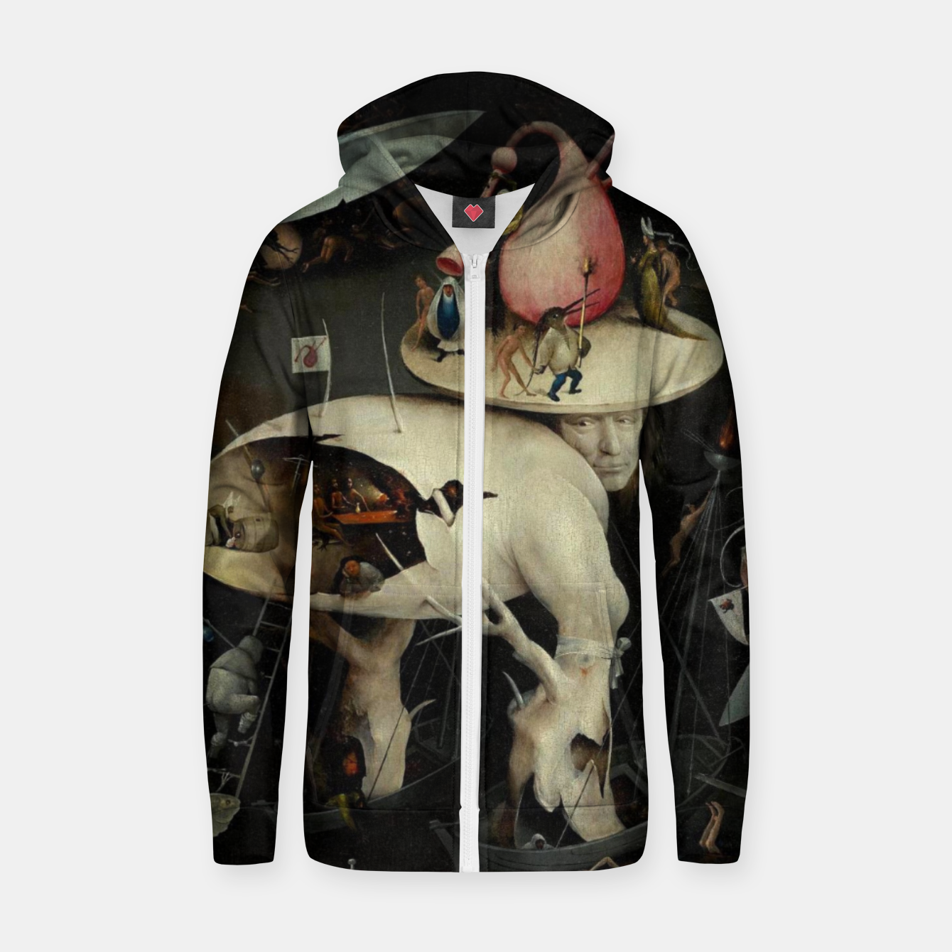 Image of Hieronymus Bosch-The Garden of Earthly Delights (Hell) 2 Zip up hoodie - Live Heroes
