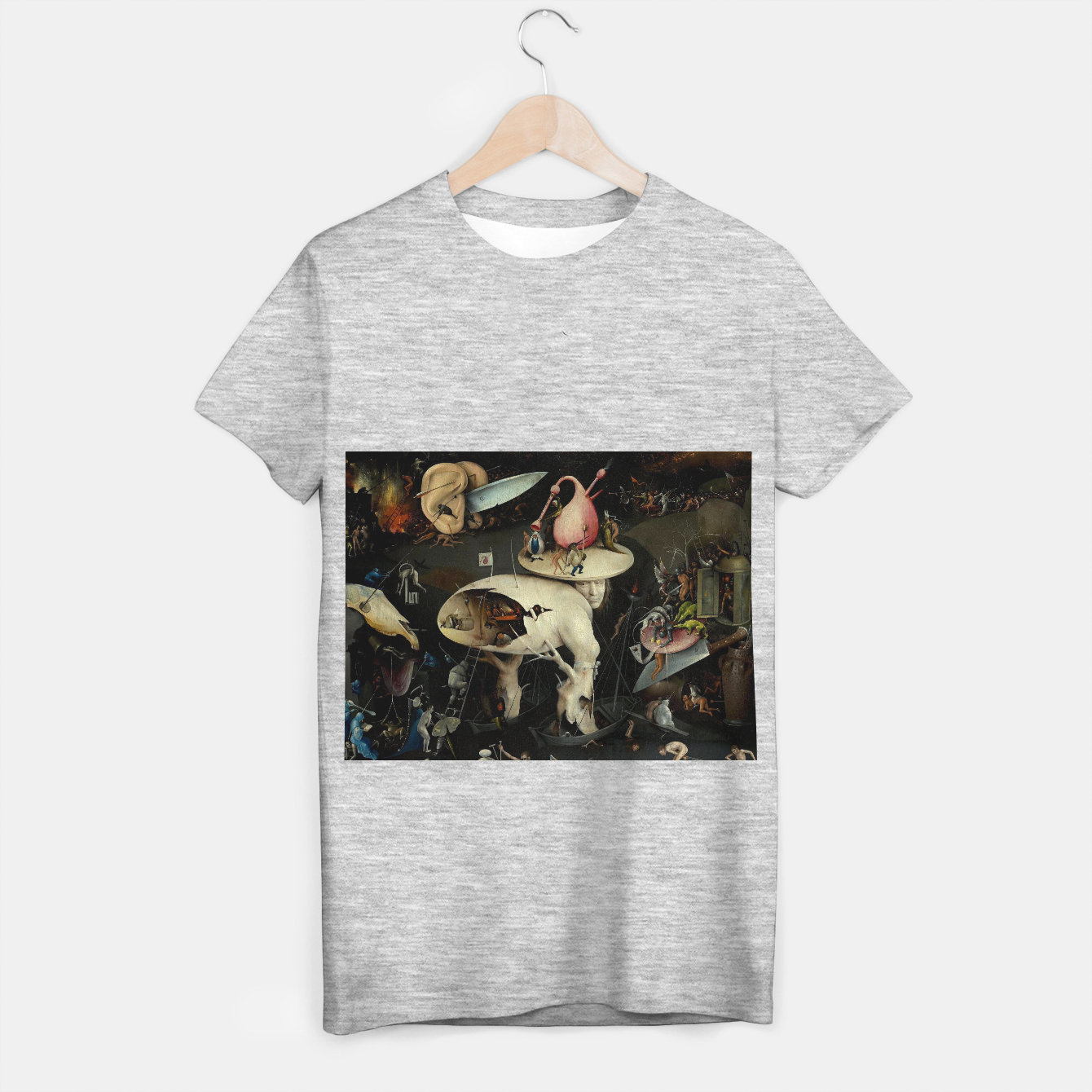 Image of Hieronymus Bosch-The Garden of Earthly Delights (Hell) 2 T-shirt regular - Live Heroes