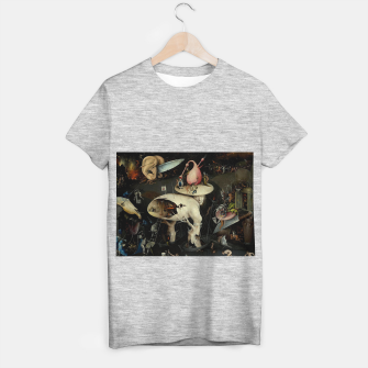 Miniatur Hieronymus Bosch-The Garden of Earthly Delights (Hell) 2 T-shirt regular, Live Heroes