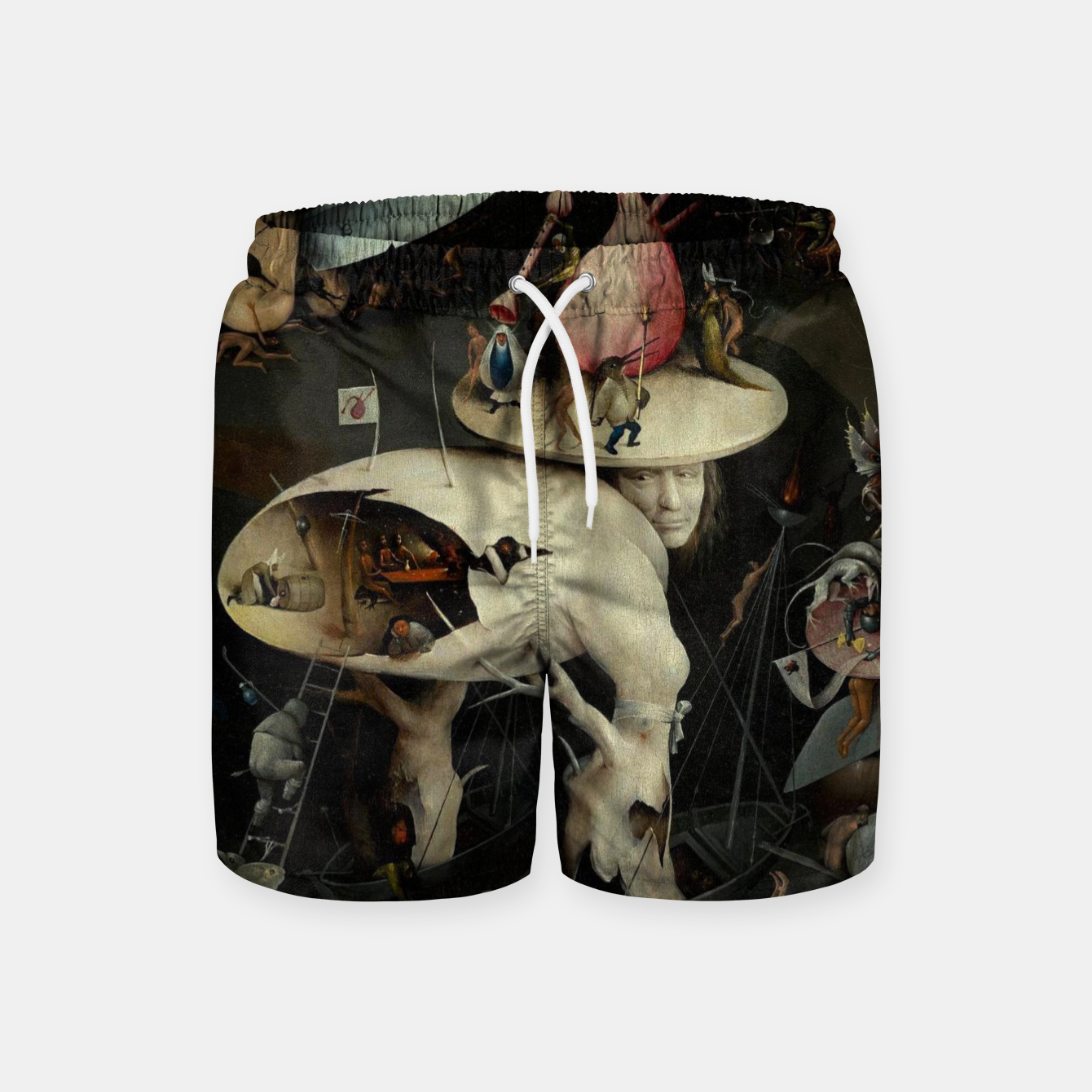 Image of Hieronymus Bosch-The Garden of Earthly Delights (Hell) 2 Swim Shorts - Live Heroes