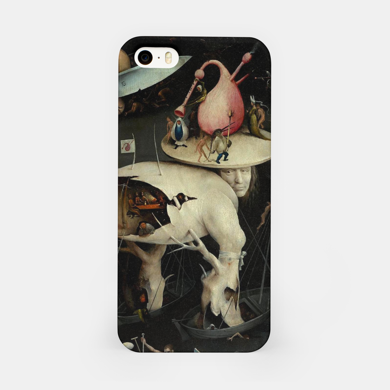 Image of Hieronymus Bosch-The Garden of Earthly Delights (Hell) 2 iPhone Case - Live Heroes
