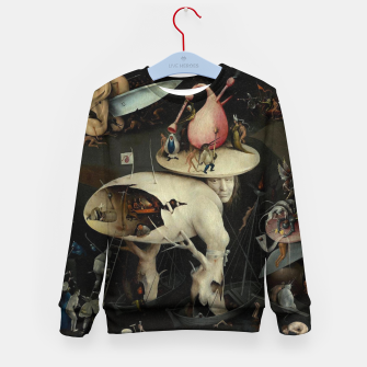 Miniatur Hieronymus Bosch-The Garden of Earthly Delights (Hell) 2 Kid's sweater, Live Heroes