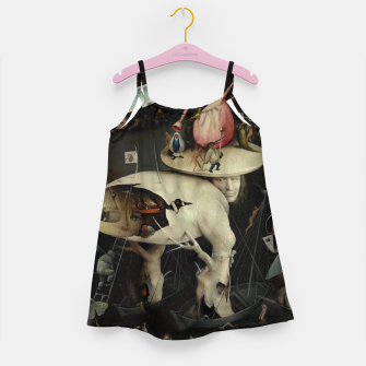 Miniatur Hieronymus Bosch-The Garden of Earthly Delights (Hell) 2 Girl's dress, Live Heroes
