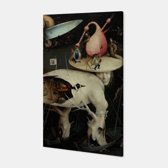 Miniatur Hieronymus Bosch-The Garden of Earthly Delights (Hell) 2 Canvas, Live Heroes
