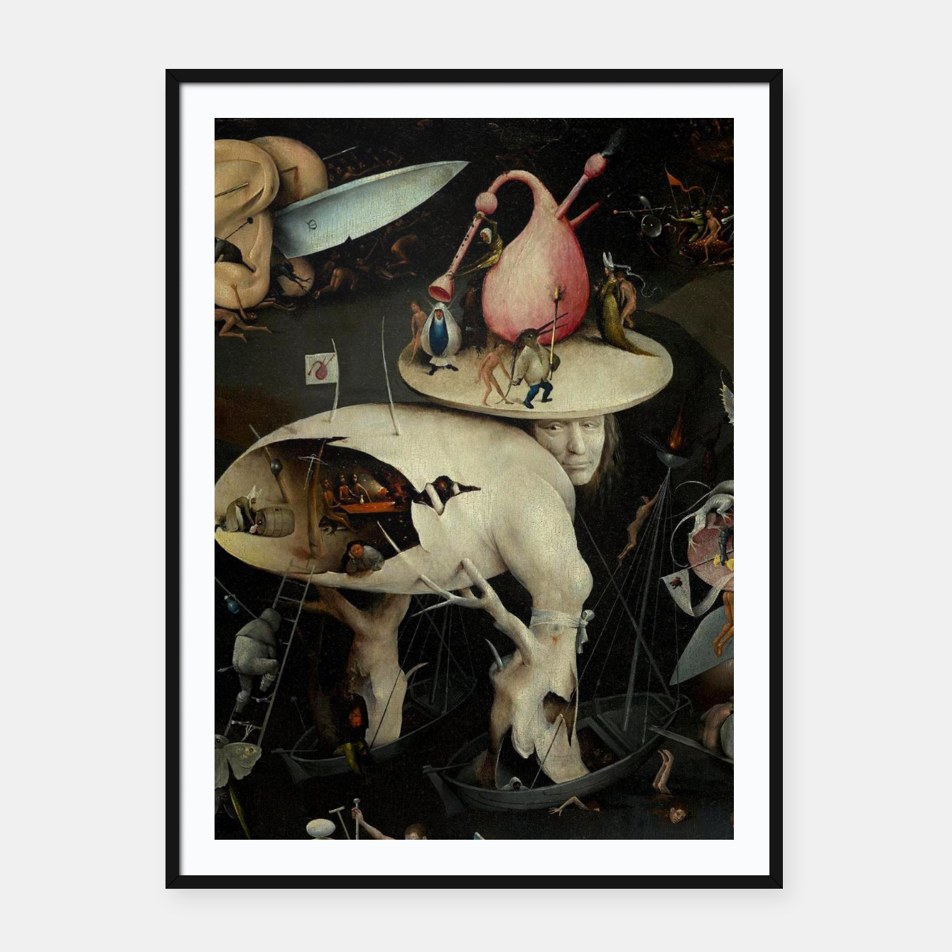 Image of Hieronymus Bosch-The Garden of Earthly Delights (Hell) 2 Framed poster - Live Heroes