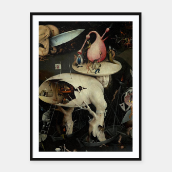 Miniatur Hieronymus Bosch-The Garden of Earthly Delights (Hell) 2 Framed poster, Live Heroes