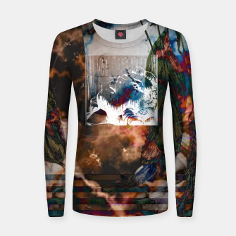 Thumbnail image of Dark Thoughts Frauen sweatshirt, Live Heroes