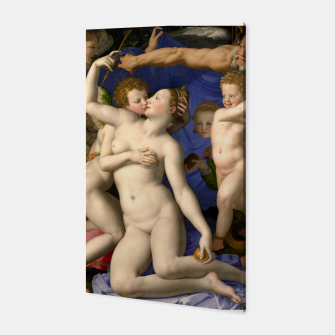 Miniatur Agnolo Bronzino-Venus, Cupid, Folly and Time Canvas, Live Heroes