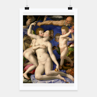 Miniatur Agnolo Bronzino-Venus, Cupid, Folly and Time Poster, Live Heroes