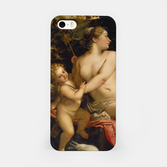 Miniatur Annibale Carracci-Venus, Adonis and Cupid iPhone Case, Live Heroes
