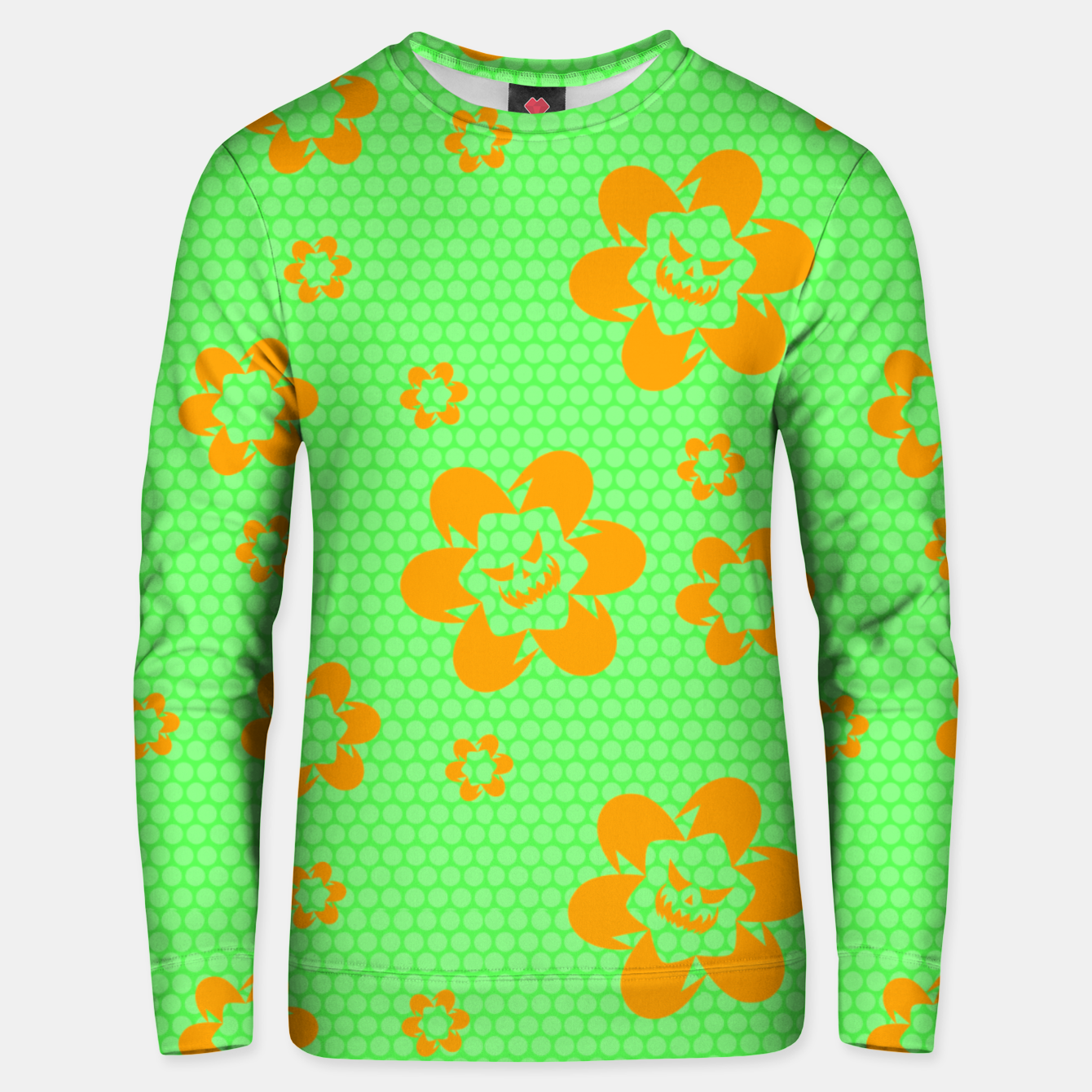 Image of Falling flowers_halloween edition Unisex sweater - Live Heroes