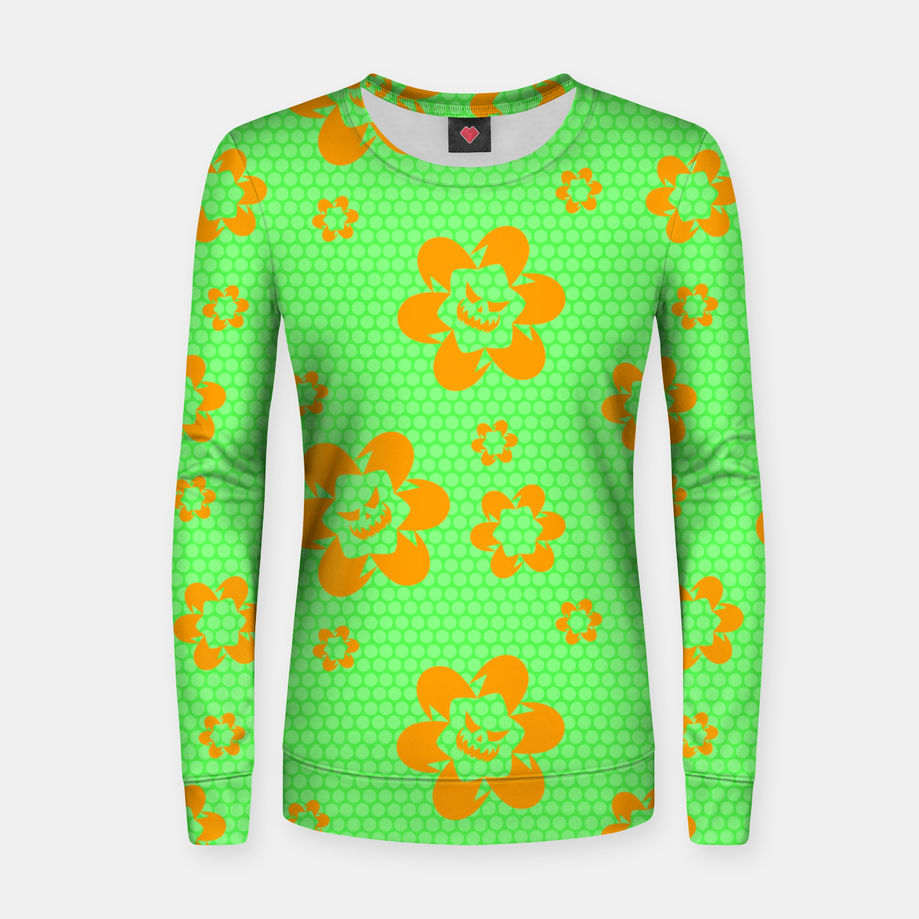 Image of Falling flowers_halloween edition Women sweater - Live Heroes