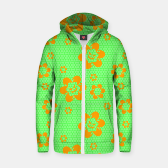 Falling flowers_halloween edition Zip up hoodie thumbnail image