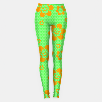 Thumbnail image of Falling flowers_halloween edition Leggings, Live Heroes