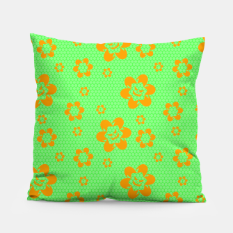 Falling flowers_halloween edition Pillow thumbnail image
