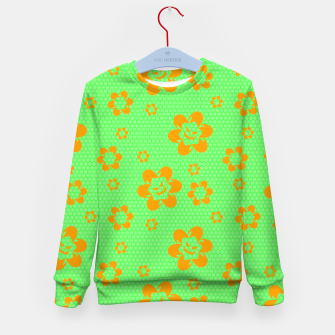 Thumbnail image of Falling flowers_halloween edition Kid's sweater, Live Heroes