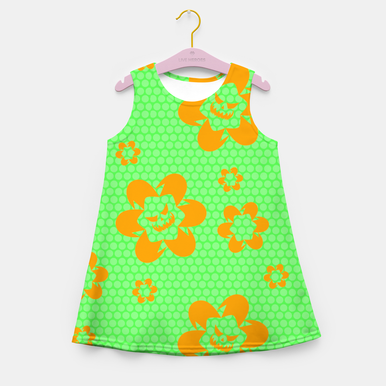 Image of Falling flowers_halloween edition Girl's summer dress - Live Heroes
