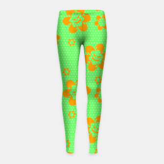 Thumbnail image of Falling flowers_halloween edition Girl's leggings, Live Heroes