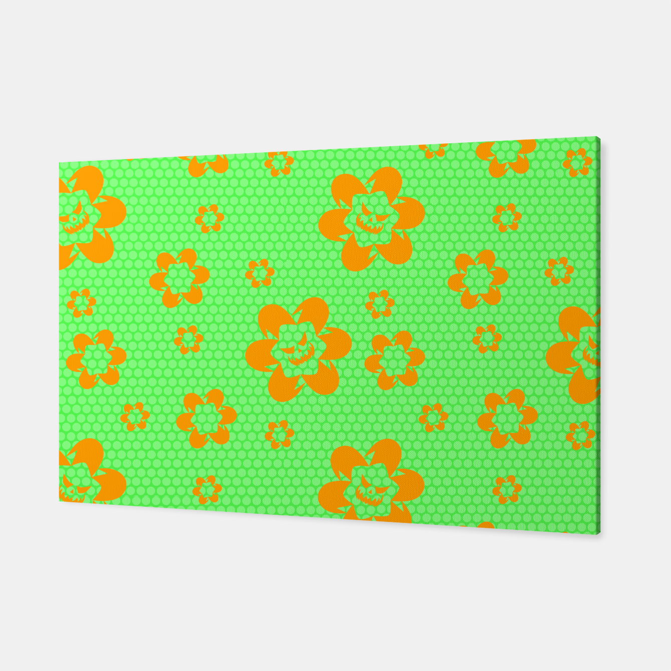 Image of Falling flowers_halloween edition Canvas - Live Heroes