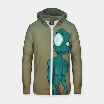 Thumbnail image of Aliens are coming Zip up hoodie, Live Heroes