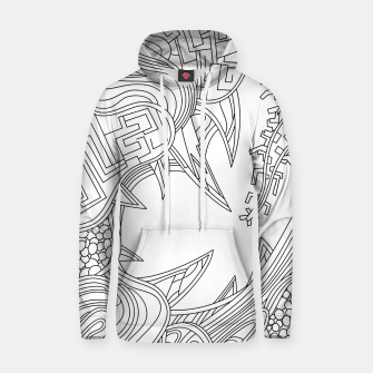 Thumbnail image of Wandering Abstract Line Art 39: Black & White Hoodie, Live Heroes