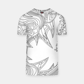 Thumbnail image of Wandering Abstract Line Art 39: Black & White T-shirt, Live Heroes