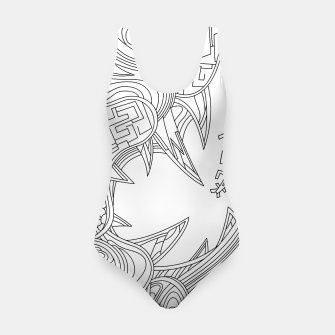 Thumbnail image of Wandering Abstract Line Art 39: Black & White Swimsuit, Live Heroes