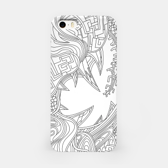 Thumbnail image of Wandering Abstract Line Art 39: Black & White iPhone Case, Live Heroes