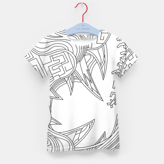 Thumbnail image of Wandering Abstract Line Art 39: Black & White Kid's t-shirt, Live Heroes