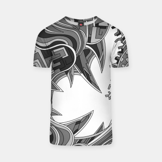 Thumbnail image of Wandering Abstract Line Art 39: Grayscale T-shirt, Live Heroes