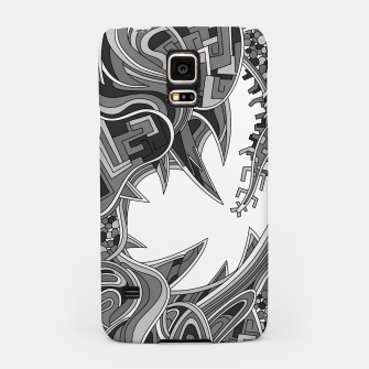 Thumbnail image of Wandering Abstract Line Art 39: Grayscale Samsung Case, Live Heroes