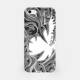 Thumbnail image of Wandering Abstract Line Art 39: Grayscale iPhone Case, Live Heroes