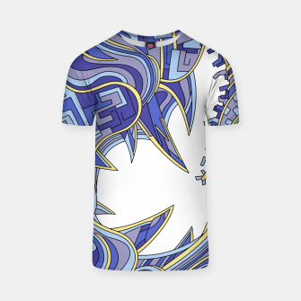 Thumbnail image of Wandering Abstract Line Art 39: Blue T-shirt, Live Heroes