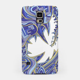 Thumbnail image of Wandering Abstract Line Art 39: Blue Samsung Case, Live Heroes